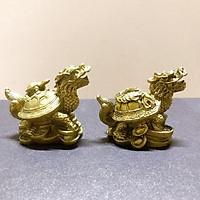Đôi tượng Long Quy (Rùa Đầu Rồng) - Phong thuỷ