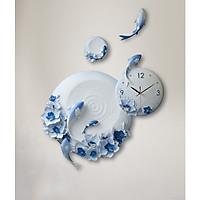 Đồng hồ treo tường nghệ thuật Điêu khắc nổi hình cá chép 042
