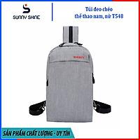 Túi đeo chéo nam, nữ hình chữ nhật dây đeo chéo 2 nên, dây kéo giữa dây đeo balo, ngăn lớn đựng vừa Ipad mini, chất liệu vải canvas chống thấm T548