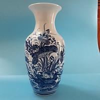 Bình hoa sứ bát tràng họa tiết họa tiết Hoa sen, Ngư ông (cá chép)  49cm (Giao hàng ngẫu nhiên)