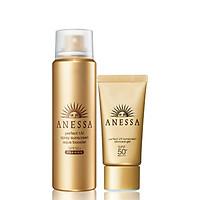 Bộ đôi Xịt chống nắng và Gel chống nắng bảo vệ hoàn hảo Anessa Perfect UV Sunscreen Skincare (60g + 32g)