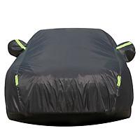 Bạt phủ xe ô tô 5 chỗ sử dụng trong nhà và ngoài trời chất liệu Polyester - màu đen và màu ghi