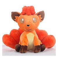 Gấu Bông Pokemon Vulpix - Cáo Cam 6 Đuôi (30 Cm) Gb132 (Tặng 1 Móc Khóa Dây Da Pu Đính Đá Lấp Lánh)