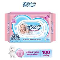 Khăn Ướt Bobby Nano Bạc kháng khuẩn Hương Thơm Nhẹ Nhàng 100 Miếng
