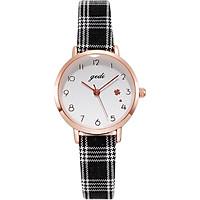 Đồng hồ nữ GEDI mặt nhỏ dây kẻ ca rô - Hàng chính hãng
