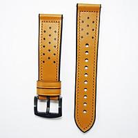 Dây da Hybird Size 22 cho Gear S3, Galaxy Watch Degign Vàng