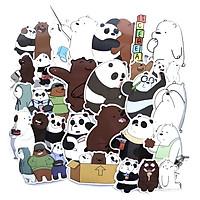 Set 60 sticker We Bare Bears (Chúng tôi đơn giản là Gấu)