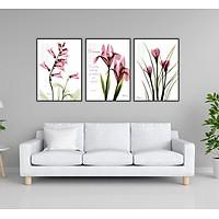 Bộ 3 tranh canvas hoa 11153241