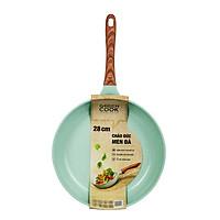 Chảo đúc 7 lớp chống dính đáy từ dùng trên mọi loại bếp Greencook GCP06-28 size 28cm, sâu 6.8cm, hàng y hình-Hàng chính hãng