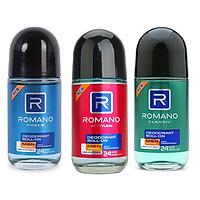 Combo 3 lăn khử mùi Romano 50ml: Classic +Attitide + Froce +Tặng 1 xà bông tắm 50gr