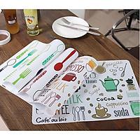 Tấm lót bàn ăn bát đĩa chống nóng chống bẩn cách nhiệt cao cấp uốn dẻo 30x40cm (mẫu ngẫu nhiên)GD398-LotBanAn