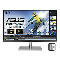 Màn Hình Đồ Họa Chuyên Nghiệp ASUS ProArt PA32UC-K 32'' 4K (3840 x 2160) Professional Thunderbolt 3 Ultra HD Premium IPS/HDR1000/384 Zones Local Dimming/99.5% Adobe RGB/95% DCI-P3/X-Rite i1 Display Pro/Stereo RMS - Hàng Chính Hãng