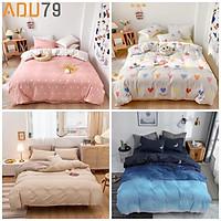 Bộ Ga Giường Và Vỏ Gối Cotton Korea ADU79 Bedding Đủ Kích Thước Trải Nệm 1m4, 1m6, 1m8 Chưa Gồm Chăn