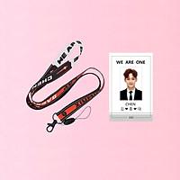 Combo dây đeo thẻ EXO và card đeo thẻ Chen EXO
