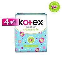 Combo 4 Gói Băng Vệ Sinh Kotex hằng ngày kháng khuẩn (40 miếng/gói)