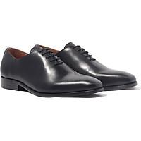 Giày nam buộc dây, phong cách giày tây công sở Wholecut Oxford H1WH1M0 da bò Ý, chính hãng Banuli