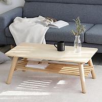 Bàn Trà Sofa A Table Gỗ Tự Nhiên Nội Thất Kiểu Hàn - Size L