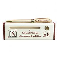Bút - Hộp bút gỗ cao cấp khắc chữ chủ đề Thầy Cô WG28