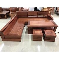 Bộ sofa góc gỗ xoan đào mặt liền L 14.9