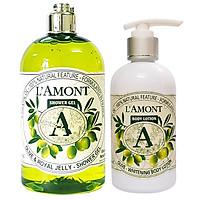 Combo Sữa Tắm L'AMONT Olive & Honey Shower Gel (500ml) Và Sữa Dưỡng Thể L'AMONT Olive Body Lotion (250ml)