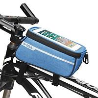 Túi treo xe đạp chất vải chống nước cực bền, có túi đựng điện thoại cảm ứng