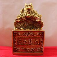Ấn Cửu Long, Ấn Thăng Quan, Ấn Phong Quan phong thủy cao 14cm