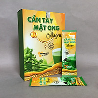 Bột cần tây mật ong Collagen Hộp 60g (15 gói x 4g) hỗ trợ giảm cân, detox cơ thể, làm đẹp da