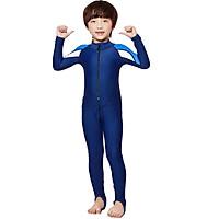 Kids Long Sleeve UPF50+ Sun UV Protection Full-Body Swimsuit for Boys and Girls