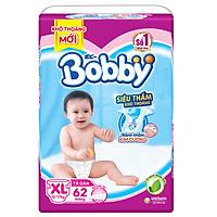 Tã Dán Bobby Siêu Mỏng Thấm Gói Siêu Lớn XL62...