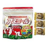 Sữa Asumiru Nhật Bản 180g ( Vị Ca Cao ) - Giúp Tăng Trưởng Chiều Cao Vượt Trội ( cho bé 3-16 tuổi ) – Tặng 03 bán quy Nhật Bản hiệu Aee