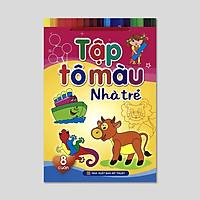 Sách: Tập tô màu nhà trẻ (Túi 8 cuốn) - B60 - TSMN