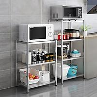 Kệ đa năng để lò sóng Inox 304 trắng chống han gỉ, kệ để đồ nặng nhà bếp cao cấp VANDO kệ tủ tiện lợi