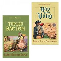 Combo Tiểu Thuyết Kinh Điển Đặc Sắc: Đảo Giấu Vàng + Túp Lều Bác Tom (Tặng kèm bookmark)