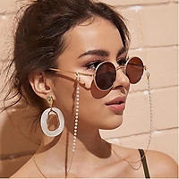 Simple Pearls Sunglasses Chain Hanging Neck Anti-falling Glasses Eyeglass Cord Necklace