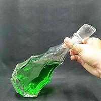 vỏ chai thủy tinh 500ml cao cấp mẫu CÂY THÔNG nắp thủy tinh đặc  – Mẫu C13