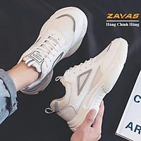 Giày thể thao nam đế êm nhẹ thương hiệu ZAVAS thoáng khí đế cao su đúc, chống trơn trượt hạn chế mòn S391 - Hàng chính hãng