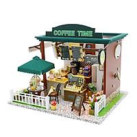 Nhà búp bê Ngôi nhà thu nhỏ lắp ghép Coffee Time