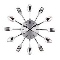 Đồng hồ muỗng nĩa trang trí nhà bếp xinh xắn