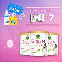 (Tặng 7 Gói Sữa + Gel rửa tay) Bộ 3 Lon Sữa Non Cho Mẹ Bầu GreenMilk Bổ Sung Canxi Dinh Dưỡng Thai Kỳ (400g)