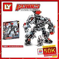 Lắp Ráp Xếp Hình Marvel Super Heroes Mô Hình Robot WarMachine Hulkbuster 632 Khối LY76013