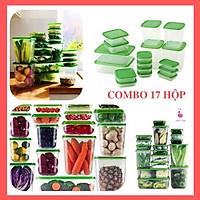 Bộ Hộp 17 Món Cao Cấp Đựng Thực Phẩm Bảo Quản Tủ Lạnh