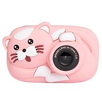 1080P Kids Camera Mini Cartoon Digital Child Camera 2.4-inch IPS Screen Photo Taking Video Recording 2600W Pixel