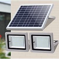 Đèn led  năng lượng mặt trời thương hiệu NewLife NT20- 1 pin quang điện- 2 đèn, mỗi đèn 63 chip- Dung lượng pin 6000 mah- Hàng chính hãng