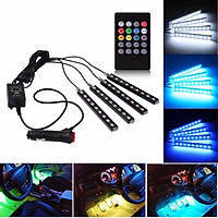 LED 8Color RGB Strip Sound Activated Car Interior Music Lights Ambient Light