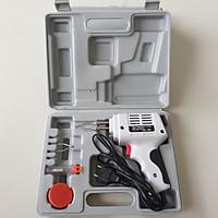 Mỏ Hàn Xung 100W JS2901 phiên bản mới hàng hộp trắng(thiếc, 1 mỏ dự phòng, nhựa hàn) Full bộ như hình