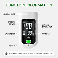 Máy đo huyết áp dạng kẹp ngón tay Blood Oxygen Saturation  SpO2  & PR Monitor 8S Quick Measure,Pulse Rate Measurement Meter for