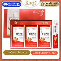 Nước hồng sâm lựu collagen Hàn Quốc Daedong 30 gói chính hãng dạng stick cho phụ nữ chống lão hóa, đẹp da, tăng cường hệ miễn dịch