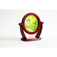 Gương soi để bàn - Gương trang điểm để bàn khung gỗ G01