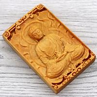 Mặt trang trí gỗ ngọc am khắc phật Đại nhật như lai DGBM19 - Sản phẩm phong thủy đem lại bình an, may mắn