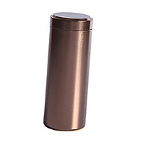 Tea Coffee Sugar Container Sealed Can Box Storage Tin Jar Canister Brown